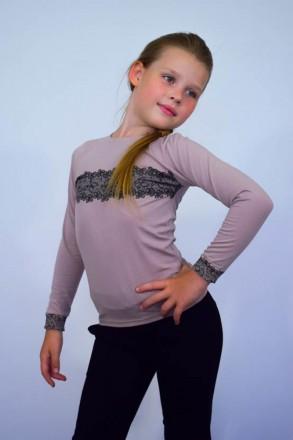 Джемпер для девочки с накатом  Комфортный джемпер из однотонной фуликры с нежн. Горишные Плавни, Полтавская область. фото 2