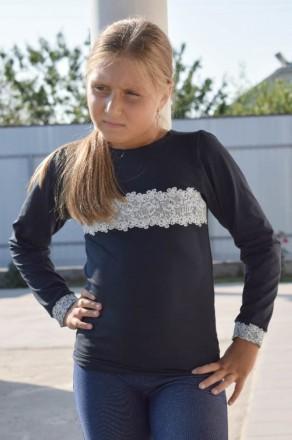 Джемпер для девочки с накатом  Комфортный джемпер из однотонной фуликры с нежн. Горишные Плавни, Полтавская область. фото 4