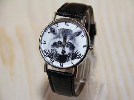 Часы енот, наручные часы, женские часы, мужские часы, часы животное.   Матери. Житомир, Житомирская область. фото 3
