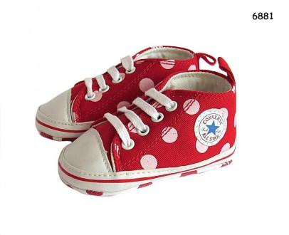 Пинетки-кеды Converse унисекс (для мальчика и для девочки) на шнуровке. Ніжин. фото 1