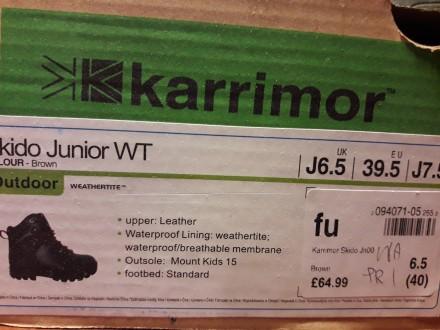 Кожаные ботинки          Karrimor   Walking Boots                              . Киев, Киевская область. фото 9
