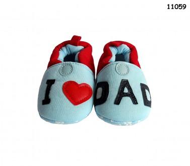 Пинетки-тапочки I love dad, I love mom для малыша. Ніжин. фото 1
