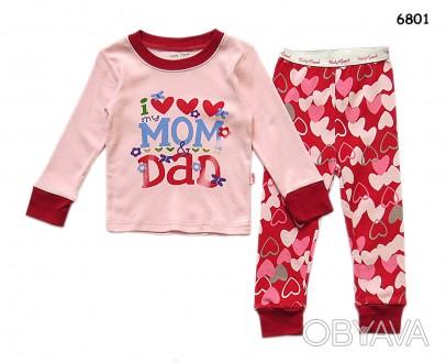 Пижама I love mom&dad; для девочки: кофта и штаны