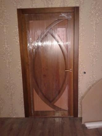 Изготовим под заказ двери и накладки на металлические двери из массива дуба.ясен. Чернигов, Черниговская область. фото 4