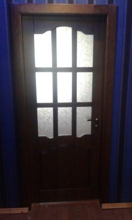 Изготовим под заказ двери и накладки на металлические двери из массива дуба.ясен. Чернигов, Черниговская область. фото 12