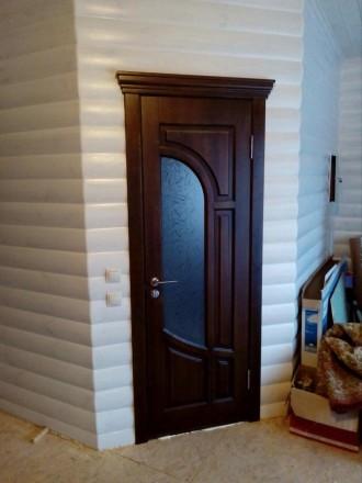 Изготовим под заказ двери и накладки на металлические двери из массива дуба.ясен. Чернигов, Черниговская область. фото 10