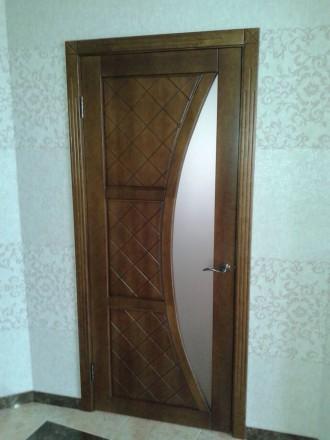 Изготовим под заказ двери и накладки на металлические двери из массива дуба.ясен. Чернигов, Черниговская область. фото 3