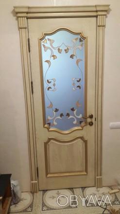 Изготовим под заказ двери и накладки на металлические двери из массива дуба.ясен. Чернигов, Черниговская область. фото 1