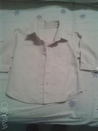 Продам рубашечку на мальчика нежно-бежевого цвета,новая с бирками,р.90,18-24 мес. Чернигов, Черниговская область. фото 1