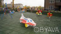 Резиновая плита для детских площадок. Борисполь. фото 1
