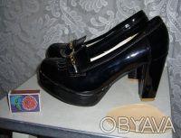 чёрные туфли 38 размер. Харьков. фото 1