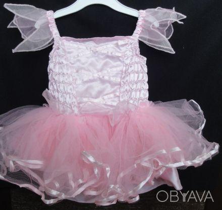 Платье Matalan нарядное с очень пышной многоярусной юбочкой. Цвет нежно-розовый,. Сумы, Сумская область. фото 1