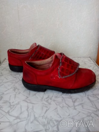 Туфельки кожаные, подошва целая. По стельке 16 см.. Чернигов, Черниговская область. фото 1
