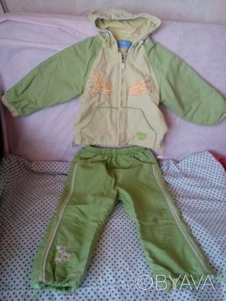 Спорт.костюм.Плащевка с подкладом.Курточка:длина от плеча до низа 34 см,ширина п. Чернигов, Черниговская область. фото 1