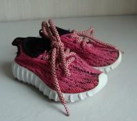 Продаю кроссовочки для девочки текстильные,розовые,размер 22,внутри по стельке 1. Черкассы, Черкасская область. фото 2