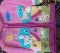 Продаю теплую кофточку на девочку приблизительно 3-4 года . Кофта в очень хороше. Киев, Киевская область. фото 2