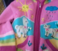 Продаю теплую кофточку на девочку приблизительно 3-4 года . Кофта в очень хороше. Киев, Киевская область. фото 5