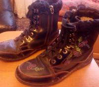 Ботинки зимние тёплые для девочки 35 размера, прошитые. По стельке-23 см. Состоя. Запорожье, Запорожская область. фото 2