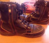Ботинки зимние тёплые для девочки 35 размера, прошитые. По стельке-23 см. Состоя. Запорожье, Запорожская область. фото 3