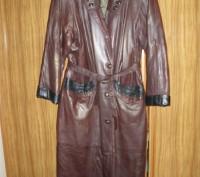 Кожаное пальто зимнее. Сумы. фото 1