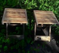 Стол складной деревянный имеет каркас из сосны, состоящий из х-образных ножек-оп. Киев, Киевская область. фото 7