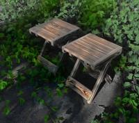 Стол складной деревянный имеет каркас из сосны, состоящий из х-образных ножек-оп. Киев, Киевская область. фото 6