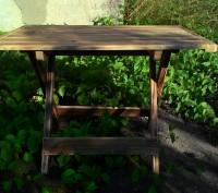 Стол складной деревянный имеет каркас из сосны, состоящий из х-образных ножек-оп. Киев, Киевская область. фото 2