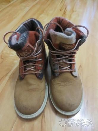 Продам демисезонные ботинки фирмы Timberland. Размер 32,5. Длина по стельке 21 с. Каменское, Днепропетровская область. фото 1