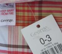 Новая шведка фирмы GEORGE. Модненькая, прикольная. По бирке 0-3 мес, но в реальн. Запоріжжя, Запорізька область. фото 7