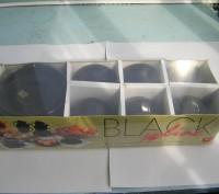 Чашки с блюдцами набор на 6 персон, модного чёрного цвета.. Киев. фото 1