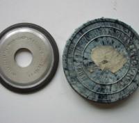 Круг алмазный с двухсторонним коническим профилем СССР. Киев. фото 1