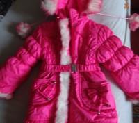 На девочку 3-5 лет.Курточка теплая.В хорошем состоянии.Требуется замена змейки.Т. Ні́кополь, Дніпропетровська область. фото 2