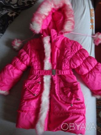 На девочку 3-5 лет.Курточка теплая.В хорошем состоянии.Требуется замена змейки.Т. Ні́кополь, Дніпропетровська область. фото 1