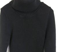 Черное вязанное платье для девочки на рост 146-152см,в хорошем состоянии,без деф. Днепр, Днепропетровская область. фото 4