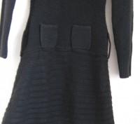 Черное вязанное платье для девочки на рост 146-152см,в хорошем состоянии,без деф. Днепр, Днепропетровская область. фото 5