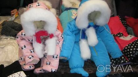 Детские зимние комбинезоны на возраст от 0 до 2-х лет от производителя. Непромок. Киев, Киевская область. фото 1