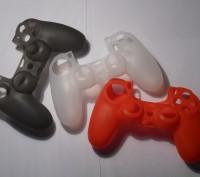 Силиконовый чехол для DualShock 4 PS4 (новый, ассортимент). Запорожье. фото 1