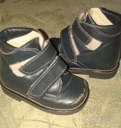Продам ортопедические ботиночки цвет синий, стелька 13 см, очень легкие и удобны. Павлоград, Днепропетровская область. фото 1