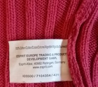 Продам свитер фирмы Esprit на девочку 8-10 лет. Длина 41 см, рукав 51 см, ширина. Киев, Киевская область. фото 9