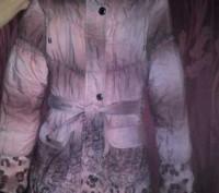 Зимнее пальто на девочку 140см на холлофайбере.В отличном состоянии,шапочка деми. Каменское, Днепропетровская область. фото 2