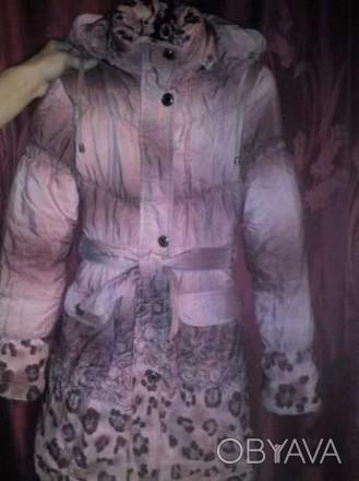Зимнее пальто на девочку 140см на холлофайбере.В отличном состоянии,шапочка деми. Каменское, Днепропетровская область. фото 1