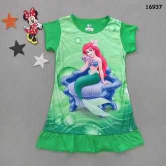 Ночная рубашка Ариель для девочки. Нежин. фото 1