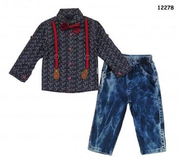 Костюм для мальчика: рубашка и джинсы. Ніжин. фото 1