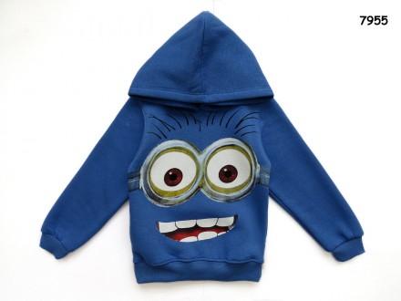 Теплая кофта Minions с капюшоном для мальчика. Нежин. фото 1