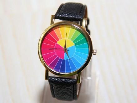Часы с цветным колесом, мужские часы, красочные часы, женские часы, праздничные . Житомир, Житомирская область. фото 4
