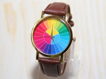 Часы с цветным колесом, мужские часы, красочные часы, женские часы, праздничные . Житомир, Житомирская область. фото 3