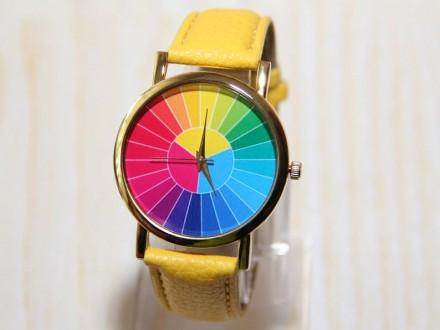 Часы с цветным колесом, мужские часы, красочные часы, женские часы, праздничные . Житомир, Житомирская область. фото 2