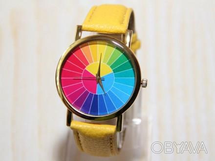 Часы с цветным колесом, мужские часы, красочные часы, женские часы, праздничные . Житомир, Житомирская область. фото 1