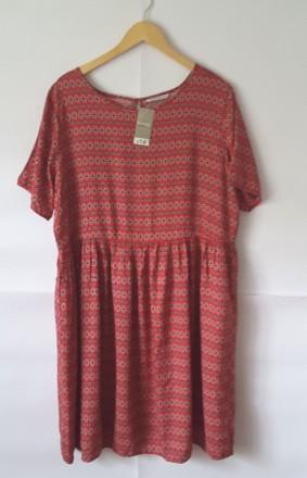 Вискозное платье george, uk 20, великобритания, наш 54- 56. Полтава. фото 1