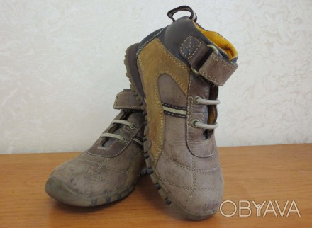 Продам кожаные демисезонные ботинки. Есть небольшие потертости на носочках (на ф. Кам'янське, Дніпропетровська область. фото 1